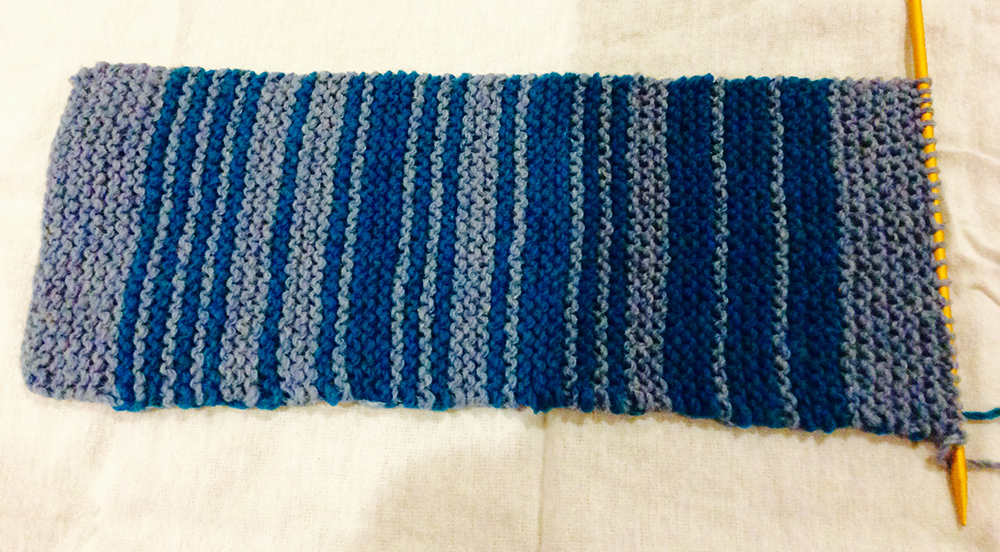 "8ac98b4f8bbc7 Figure 1  This piece from the author s personal collection shows the word  ""hello"" knitted in Morse code."